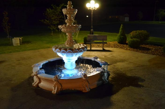Our outdoor fountain is another feature that can add to your event at UAW Solidarity Banquet Hall.