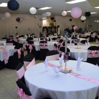 Pink, Black & White Color Scheme
