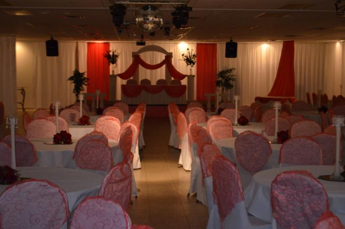 Our banquet hall can be set up to fit the theme you have in mind for your wedding.